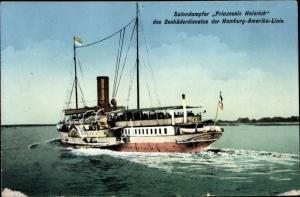 Ak Seebäderdampfer Prinzessin Heinrich, Hamburg Amerika Linie