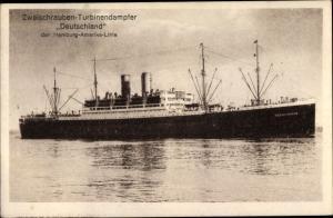 Ak Dampfer Deutschland, Hamburg Amerika Linie