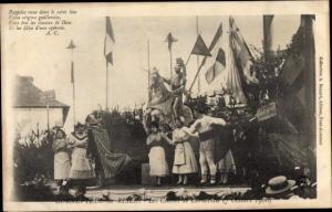 Ak Corneville sur Risle Eure, Les Cloches de Cornveille, 7 Octobre 1900, opéra comique, scene