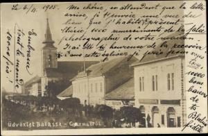 Ak Balassagyarmat Nógrád Ungarn, Straßenpartie