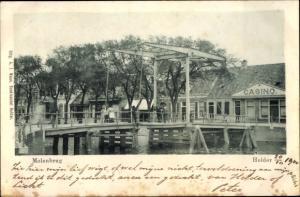 Ak Den Helder Nordholland Niederlande, Molenbrug, Casino, Brückenpartie