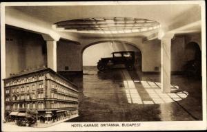 Ak Budapest Ungarn, Hotel Garage Britannia