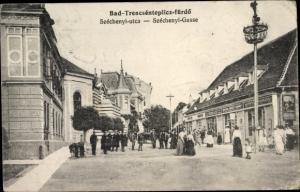 Ak Bad Trencsenteplicz Ungarn, Szechenyi Gasse