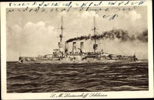 Ak Deutsches Kriegsschiff, SM Linienschiff Schlesien