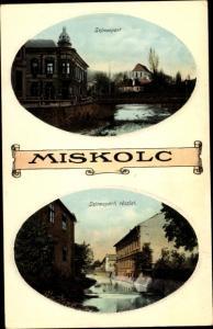 Passepartout Ak Miskolc Mischkolz Ungarn, Szinvapart, Szinvaparti reszlet