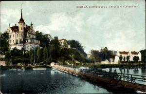 Ak Grimma in Sachsen, Gattersburg und Amtshauptmannschaft