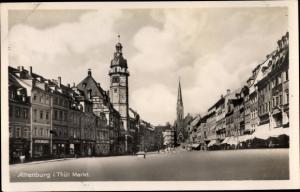 Ak Altenburg in Thüringen, Markt