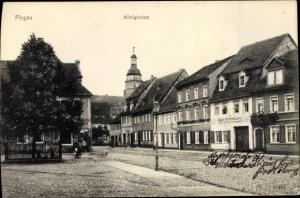 Ak Pegau in Sachsen, Königsplatz