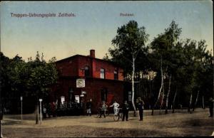 Ak Zeithain in Sachsen, Postamt, Truppenübungsplatz