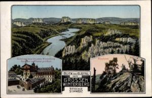 Ak Schmilka Bad Schandau Sächsische Schweiz, Großer Winterberg, Hotel, Kipphorn