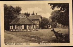 Ak Gernrode Quedlinburg im Harz, Försterei Sternhaus, Reh