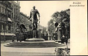 Ak Dresden Zentrum Altstadt, Bismarckdenkmal