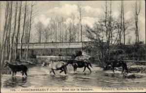 Ak Concressault Cher, Pont sur la Sauldre