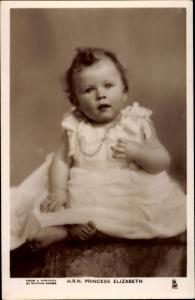 Ak Princess Elizabeth, Portrait, Tuck 3974 D