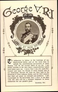 Passepartout Ak King George V, Portrait