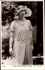 Ak Duchess of York, Queen Elizabeth, Portrait