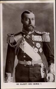 Ak King George V, Portrait