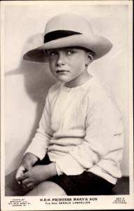 Ak Princess Mary's Son, Gerald Lascelles, Portrait