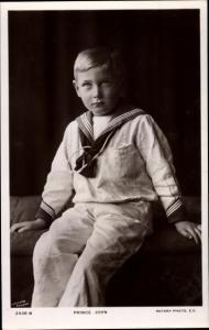 Ak Prince John, Son of George V, Portrait