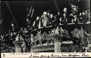 Ak Adel Großbritannien, König Eduard VII. von England, King Edward VII. in Paris