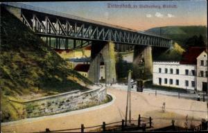 Ak Dzietrzychów Dittersbach Wałbrzych Waldenburg Schlesien, Viadukt