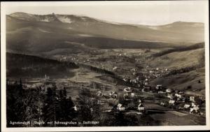 Ak Jagniątków Agnetendorf Hirschberg Riesengebirge Schlesien, Panorama vom Ort, Schneegruben