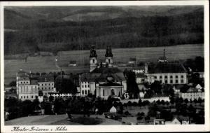 Ak Krzeszów Kamienna Góra Grüssau Schlesien, Kloster, Gesamtansicht