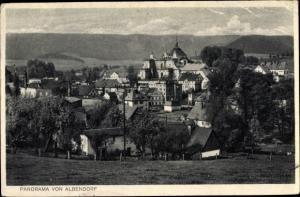 Ak Wambierzyce Albendorf Schlesien, Panorama vom Ort