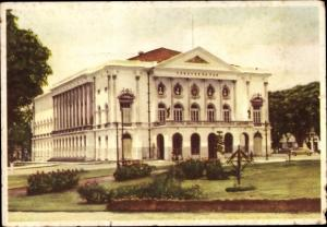 Ak Belém Brasilien, Teatro da Paz, Vista frontal