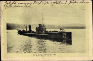 Ak Deutsches Kriegsschiff, SM Torpedoboot S 102, Kaiserliche Marine