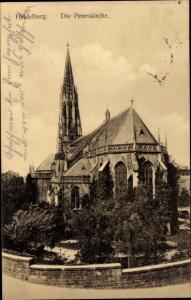 Ak Heidelberg am Neckar, Blick auf die Peterskirche