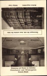 Ak Hamburg, Hotel Lengenfeldt, Holzdamm 53, Inh. M. Preußler, Alstertunnel und Wintergarten