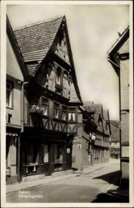 Ak Aalen im Ostalbkreis Baden Württemberg, Hirschgasse, Straßenpartie