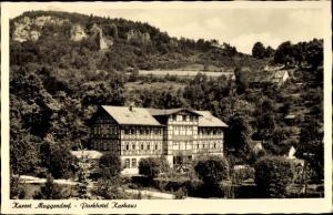 Ak Muggendorf Wiesenttal Fränkische Schweiz, Franz Maul Parkhotel Kurhaus, Gesamtansicht