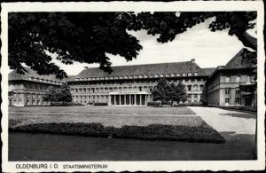 Ak Oldenburg in Niedersachsen, Staatsministerium, Gesamtansicht, Eingang