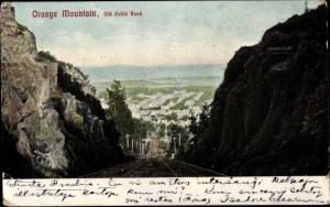 Ak East Orange New Jersey, Orange Mountain, Old Cable Road, Seilbahnstraße