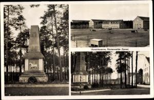 Ak Fürstenwalde in Brandenburg, Ulanenkaserne, Kriegerdenkmal