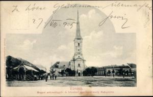 Ak Verscez Werschetz Serbien, Magyar aulomalgyar és kölesönzó Budapesten, Kirchpartie
