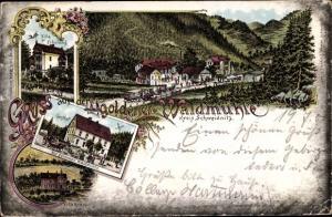 Litho Świdnica Schweidnitz Schlesien, Goldene Waldmühle, Villa zur Erholung, Villa Knappe