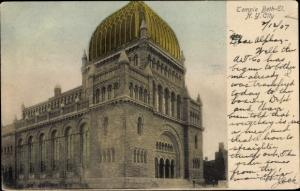Judaika Ak New York City USA, Temple Beth El, Synagoge