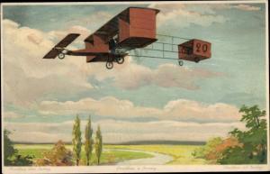 Künstler Ak Paulhan über Juvisy, Biplan, Flugzeug, Meissner & Buch 1715, Aeroplane