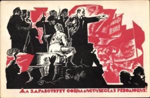 Künstler Ak Sowjetunion, Lenin, Oktoberrevolution