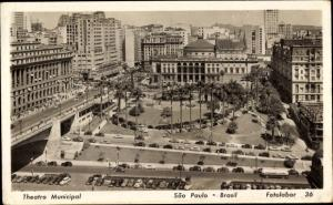 Ak São Paulo Brasilien, Theatro Municipal, Theater