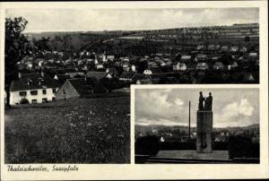 Ak Thaleischweiler Fröschen Rheinland Pfalz, Denkmal, Totalansicht