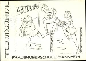 Abitur Ak Mannheim in Baden Württemberg, Abitur 1941, Frauenoberschule, Hans Thoma Schule