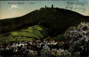 Ak Auerbach Bensheim an der Bergstraße Hessen, Schloss, Panoramaansicht von Ortschaft