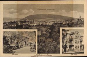Ak Hofheim am Taunus Hessen, Kapelle und Meisterthurm, Kurhaus, Panorama