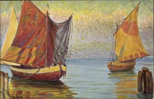 Künstler Ak Rave, Chr., Marine Galerie 137, Italienische Fischerboote, Jetztzeit