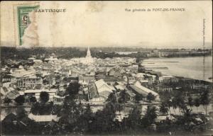 Ak Fort de France Martinique, Blick über die Dächer der Stadt, Umgebung