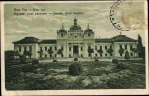 Ak Novi Sad Újvidék Neusatz Serbien, Varosko jodno kupatillo, Thermalbad, Kurhaus